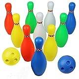 Bolos Infantiles - Juego de Bolos Juegos Party Día del Niño Desarrollo de Habilidades Motoras Colores Interior y Exterior Juguete para Niños 3 4 5 6 Años (Super Gran Tamaño Altura: 23,5CM