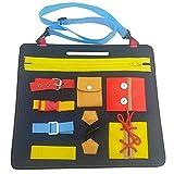Montessori Aprender Tableros Juguetes Educativos para Aprendizaje Educativo Temprano Habilidades de Vida Básicas Tablero de Enseñanza del Vestido para Bebés