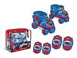 Spiderman Spiderman-18390 Spider-Man Set de Patines Infantiles con Protecciones, Talla 22 a 29, Multicolor, 40 x 40 x 40 cm (Mondo 18390)