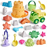 T.G.Y Juego de juguetes de arena para niños, 23 piezas de juguetes de arena de playa ecológicos, juguetes de verano al aire libre para niños y niñas, regalo