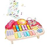 Juguete Musical para bebé-Juego con teléfono| Pearl Labirinth|Gear|Xilófono|Piano-Juguetes de Aprendizaje para Niños de 1 2 3 Años Niños Niñas Niños Pequeños Los Mejores Regalos Educativos (Rosado)