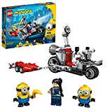 LEGO 75549 Minions El Origen de GRU, Persecución en la Moto Imparable, Moto de Juguete con Mini Figuras de GRU, Stuart y Bob