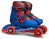 Stamp Sas SM250301 Adjustable Two in One 3 Wheels Skate Size 27-30, Niño, Blue Red