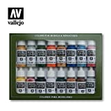 VALLEJO-3070101 70101 Model Set DE 16 Colores, Surtido (3070101)
