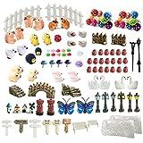 ZJW - Kit de adornos de hadas miniatura, accesorios de jardín, 112 piezas para decoración de hadas para jardín