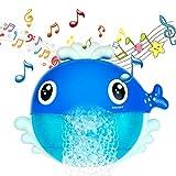 MOOKLIN ROAM Juguetes de Baño Ballena, Juguetes para el Agua, Juguetes de Burbujas de Bañera Portatil Juguetes Reflejo con 12 Música para Bebés Ducha de Niños Baño de Burbujas