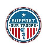 WBXZY Pegatinas de Coche Ejército de EE. UU. Apoya a Nuestras Tropas Pegatina de Coche Motocicletas Parachoques portátil Cubierta de SUV Calcomanía de arañazos Accesorios al Aire Libre 13 x 13 cm