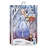 Disney Frozen Muñeca de Moda de Elsa con música Vestido Azul Inspirado en Disney Frozen 2, Juguete para niños de 3 años en adelante