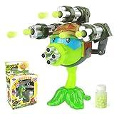 1PCS Plantas interesantes contra zombies Figura de anime Modelo de juguete 15cm Gatling Pea Shooter (3 cañones) Juguete de inicio de alta calidad para regalo de niños