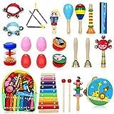 Jojoin Juguetes Musicales Instrumentos 24 Pcs, Juguetes de Instrumentos, Música Juguete Instrumento, Educativo Bebés Regalos para los Niños