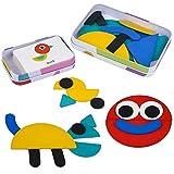 Juguetes Puzzle Infantiles 3+ Años 36 Montessori Puzzle de Madera + 60 Diseño Tarjetas Animales Rompecabezas Juegos Educativos Regalos para Niños Niñas 3 4 5 6 Años