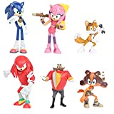 Hilloly 6 pcs Hedgehog Cake Topper Figuras Decoración De Pastel De Erizo Cumpleaños de Dibujos Animados Mini Figuras Decoración del Hogar para Cumpleaños de los Niños