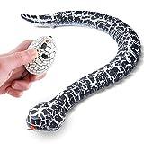 Top Race® Serpiente Controlado por Radio con 3 Acciones de Movimiento Rápido, cola hostil y con lengua movible Juego de Broma y alegría (TR-A22)
