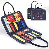 BOXYUEIN Juguetes Montessori 1 2 3 4 Años, Juegos Educativos Niños 1-4 Años Regalos Niño 1-4 Años Juguetes para Chicos Juguetes Sensoriales Bebe Regalos para Niños Busy Board Regalo Navidad Niño
