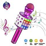 ATOPDREAM Microfono Karaoke, Regali di Natale Bambina 3-9 Anni Giocattoli per Ragazzo 9-12 Anni Ragazzi 9-12 Anni Giocattoli Bambini 3-9 Anni Giocattoli Microfono Bambini per Cantare