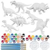 Kit Pintura Dinosaurios, ZoneYan Juguetes de Animales para Niños, Pintar Dinosaurios Animales, Juguetes de Dinosaurio 3D, Juego Dinosaurios 3-10 años (7 Dinosaurio)