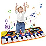 Ballery Alfombra de Piano, Alfombra Musical de Teclado para Bebé, Alfombra de Juegos, Juguetes Niños 2 Años, Alfombra de Piano Actividad Juego De Gimnasio Colchonetas Mat - 110 * 36 cm