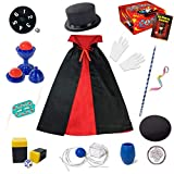 Kids Magic Kit - Beginners Kids Magic Tricks Set Included Magic Wand, Top Hat, Fancy Dress & Much More, Novelty Magic Props Toy Birthday Christmas Gift for Magician Boy Girl