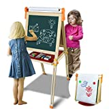 PizarraInfantil Caballete Pintura para Niños3 EN 1 PizarraMagnética Ajustable Juegos con Tarjetas Magnéticas y Bolígrafos Juegos Educativos Halloween Navidad Regalos para Niños Niñas 3 4 5 6 7 Años