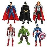 Yisscen Avengers Cake Topper Figuras, Super Heroe Acción Juguetes Modelo Muñecas, Decoración de Cumpleaños para Niños Juguetes Decoraciones Pastel Suministros de Decoración Tartas, 6 Piezas