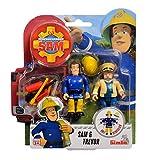 Simba 109251043 - Juego de Figuras Sam el Bombero (2 Unidades, 7,5 cm, móvil)