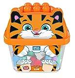 Mega Bloks Tigreblok, juguete de construcción para bebé +1 año (Mattel GCT48)