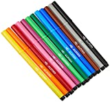 Rotuladores Alpino Coloring para niños - Estuche de 12 Colores con Punta Fina 3mm - Tinta Lavable - Perfecto para Manualidades, Pintar Mandalas o Material Escolar