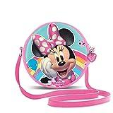 KARACTERMANIA Minnie Mouse Rainbow-Bolso Redondo (Pequeño), Multicolor (2257)