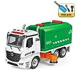 Ensamblar juguetes camiones fricción barredora -Bricolaje Limpiador calles barrendero Empujar ir Vehículos vehículos compatibles pequeños bloques partículas sonido ligero Niños de 3 3 5 6 regalos