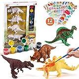 Tacobear Dinosaurio Pintar Juegos para Niños Dinosaurio Figuras para Pintar Manualidades Pintar Creativo DIY Dinosaurio Navidad Regalos Manualidades para Niños