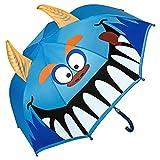 VON LILIENFELD® Paraguas Motivos Infantil Monstruo Decoración Niños Niñas hasta 8 años