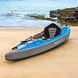 AQUATEC Kayak | Kayak Hinchable de 1 y 2 Plazas | Kayaks Hinchables de Paseo y Pesca para Hombres, Mujeres y Niños | con Bolsa de Transporte y Remos Incluidos | (1 Plaza, Ottawa (Experto))