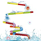 Juguetes de Baño Juguetes Bañera Puzzle DIY Pista Hora del Baño Juego Bricolaje con Bola Rodante para Niños Niñas 3 4 5 6 Años.