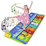 LEADSTAR Juguetes Niños 2 3 4 5Años, Alfombra para Piano, Alfombra de Teclado Táctil Musical Touch Juego Musical, Alfombra para Teclado, Alfombra Electrónica Portátil para el Baile, 130*48cm