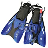 Aqua Lung Proflex KD Adj Juego de máscara/Snorkel y Aleta, Infantil, Azul, L/XL
