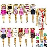 ZITA ELEMENT 5 Ropa 5 Zapatos de Muñeca para Ropa de Muñeca Vestidos de Fiesta Traje Casual con Zapatos Ropa para 11,5inch Girl Doll - Estilo Aleatorio