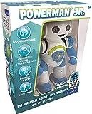 LEXIBOOK Robot Inteligente Powerman Junior Educativo e Interactivo, Lee la Mente, Baila, Toca Musica, Repite Las Frases, Mando a Distancia, Juguete a Partir de 3 años, Azul/Blanco (ROB20ES), Color