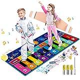RenFox Alfombrilla de Piano, Cielo Estrellado Alfombrilla Musical Grande con 10 Teclas, 10 Canciones y 8 Instrumentos para Niños Niñas, Juguetes Educativos Regalos para Cumpleaños