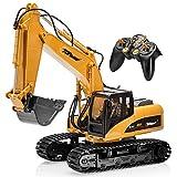 Top Race 15 canales Full Funcional profesional RC Excavadora, batería de control remoto de construcción, tractor, pala de metal, TR-211
