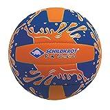 Schildkröt Funsports Mini Pelota de Voleibol de Playa, Tamaño 2, Ø 15 cm, Superficie Textil Antideslizante, Resistente al Agua Salada, Ideal para Niños Pequeños, Azul/Naranja, 970274