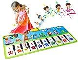 EXTSUD Alfombra Musical para Niños, Alfombra de Piano Infantil, Juguete Educativo para Niños Regalo para Niños Mayores de 3 Años, 132 * 64 cm