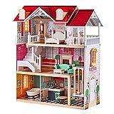 TOP BRIGHT - Casa de muñecas de madera con muebles y ascensor