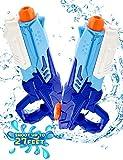 HOPOCO Pistola de Agua, 2 Pack Pistolas de Agua Chorro de Agua Squirt Gun, 600ML Pistolas de Agua Soakers de Juguetes para Niñas Niños Juguete de Verano para Playa(600ML*2Pack)