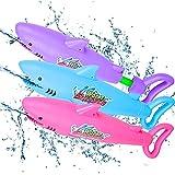 3 Pack Pistolas de Agua Largo Alcance Super Soaker Pistola Acuatica Potente para Playa Piscina Juguete de Verano Aire Libre Juego para Ninos Adultos