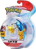 PoKéMoN Clip 'N' Go Pikachu y Poké Ball, Contiene 1 Figura y 1 Poké Ball, New Wave 2021, con Licencia Oficial