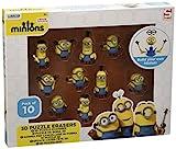 MINIONS Minion Rompecabezas 3D Borrador 10 Pack