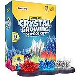 Dan&Darci Kit de Cultivo de Cristales Iluminado - ¡Cultive Sus Propios Cristales y Haga Que brillen! Gran Regalo de experimentos científicos para Niños y Niñas | Juguete Stem | Cultivo de Cristal