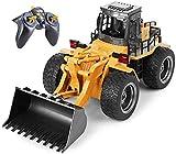 TopRace Cargador frontal funcional completo de 6 canales, control remoto RC Tractor excavadora de construcción con luces y sonidos de 2,4 GHz. TR-113G