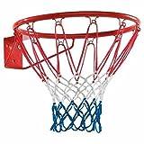REPLOOD Canasta de baloncesto reglamentaria 46 cm 18' con red y kit para montaje de metal colores americanos