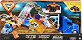 Monster Jam- Official 2-in-1 Transforming Hauler Playset with Exclusive 1:64 Scale El Toro Loco Die-Cast Monster Truck Juego Oficial 2 Escala, Color Gris (Spin Master 6058258)